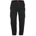 Black - Front - Duke Mens Robert-D555 Peached And Washed Cotton Cargo Pants