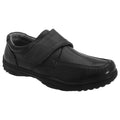Black - Front - Smart Uns Mens Touch Fastening Casual Shoes