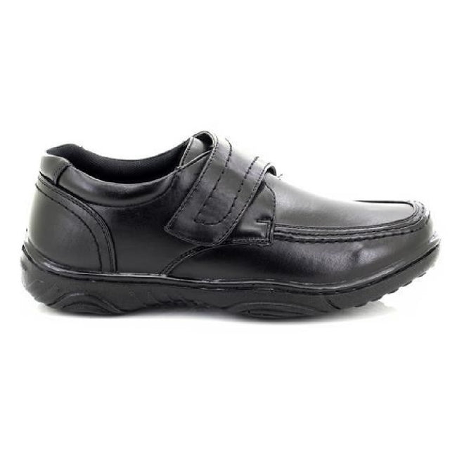 Black - Back - Smart Uns Mens Touch Fastening Casual Shoes