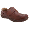Tan - Front - Smart Uns Mens Touch Fastening Casual Shoes