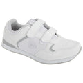 White - Front - Dek Womens-Ladies Lady Skipper Touch Fastening Trainer-Style Bowling Shoes