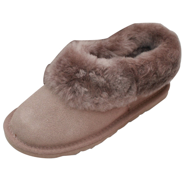 Mink - Front - Eastern Counties Leather Womens-Ladies Sheepskin Lined Slipper Boots