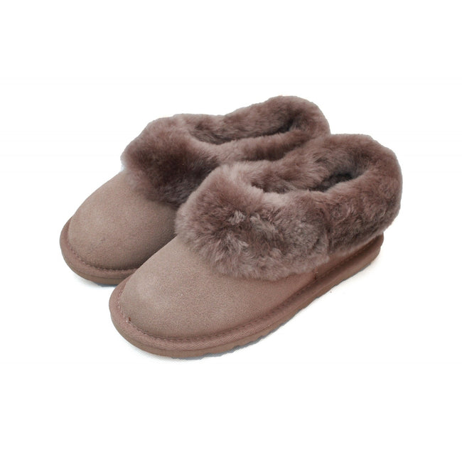Mink - Back - Eastern Counties Leather Womens-Ladies Sheepskin Lined Slipper Boots