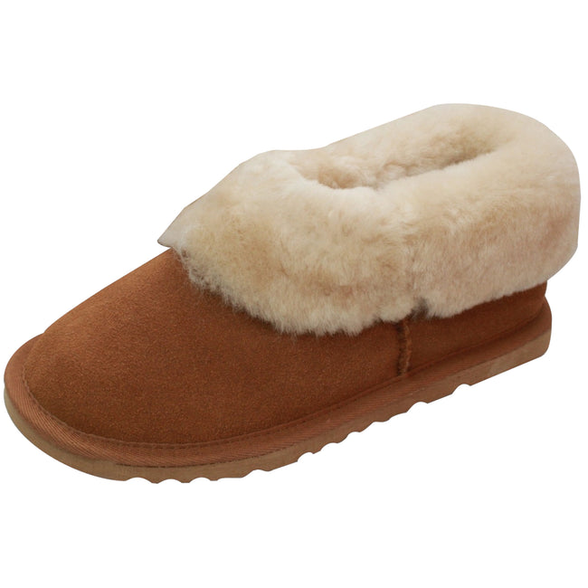 Chestnut - Front - Eastern Counties Leather Womens-Ladies Sheepskin Lined Slipper Boots
