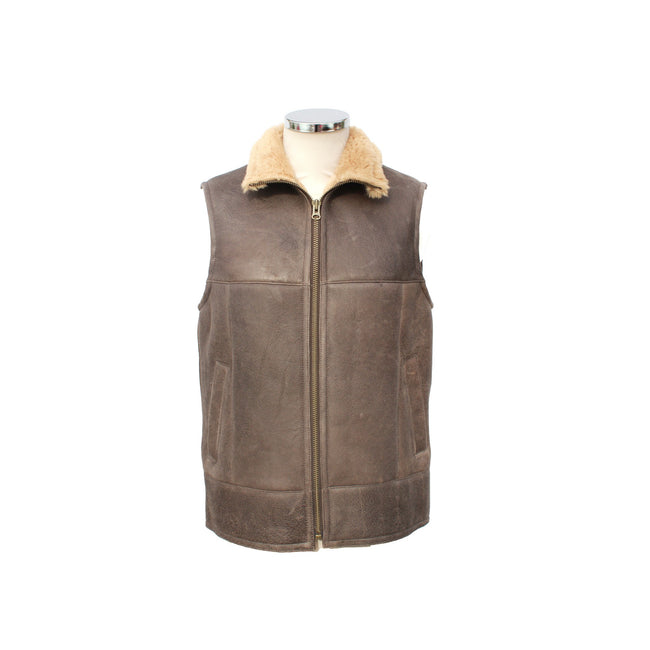 Eastern Counties Leather Mens Harvey Sheepskin Gilet Discounts On Great Brands