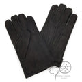 Black - Front - Eastern Counties Leather Mens 3 Point Stitch Sheepskin Gloves