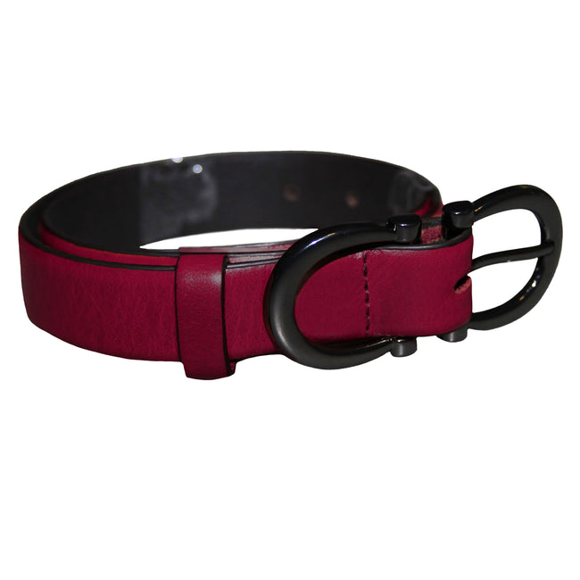 Red - Front - Eastern Counties Leather Womens-Ladies Feature Buckle Belt