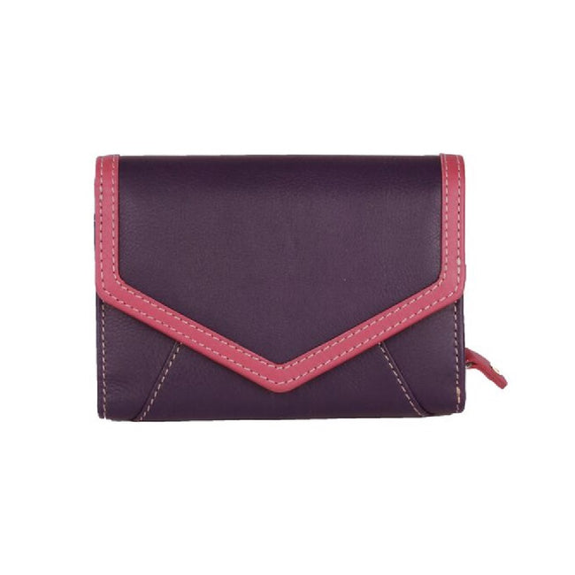 Purple-Pink - Front - Eastern Counties Leather Womens-Ladies Carla Envelope Style Wallet