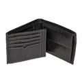 Black - Back - Eastern Counties Leather Mens Mark Trifold Wallet With Coin Pocket
