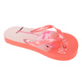 Salmon - Front - Sandrocks Childrens Girls Flamingo Flip Flops
