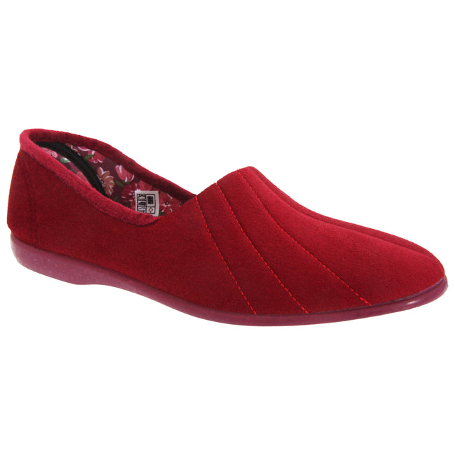Lilac - Front - GBS Audrey Ladies Slipper - Womens Slippers