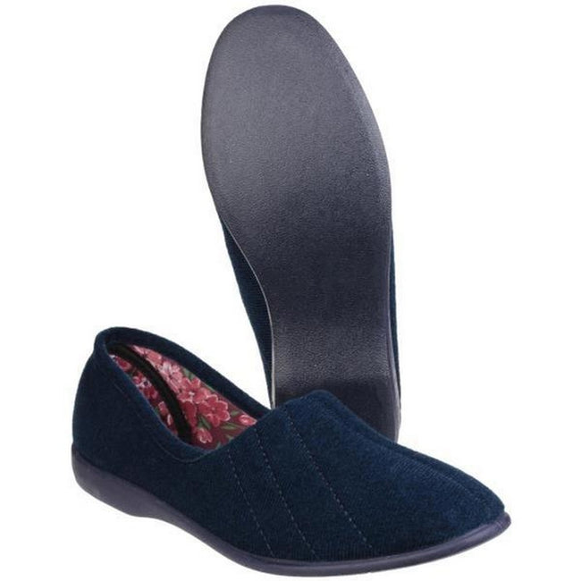 Burgundy - Front - GBS Audrey Ladies Slipper - Womens Slippers