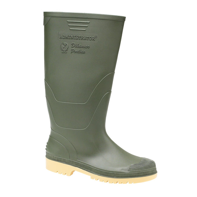 Black - Back - Dikamar Administrator Wellington - Mens Boots - Plain Rubber Wellingtons