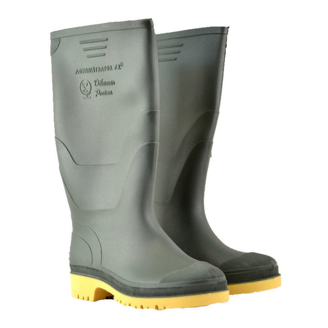 Black - Front - Dikamar Administrator Wellington - Mens Boots - Plain Rubber Wellingtons