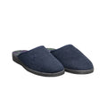 Navy - Back - Mirak Buck Mule Mens Slippers - Classic Slipper