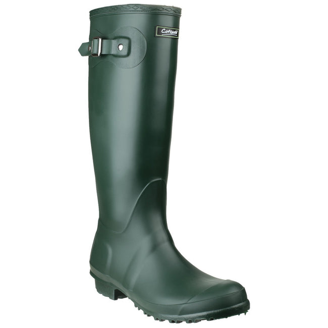 Green - Front - Cotswold Sandringham Buckle-Up Womens Wellington Boots