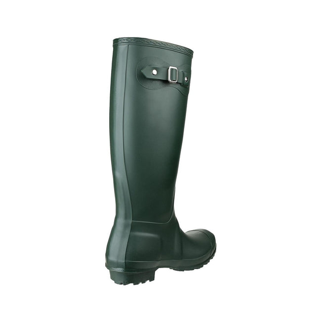 Green - Back - Cotswold Sandringham Buckle-Up Womens Wellington Boots