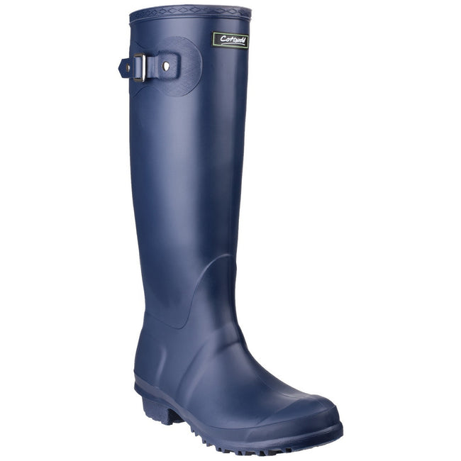 Navy - Front - Cotswold Sandringham Buckle-Up Womens Wellington Boots