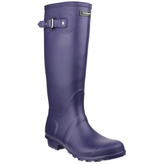 Purple - Front - Cotswold Sandringham Buckle-Up Womens Wellington Boots