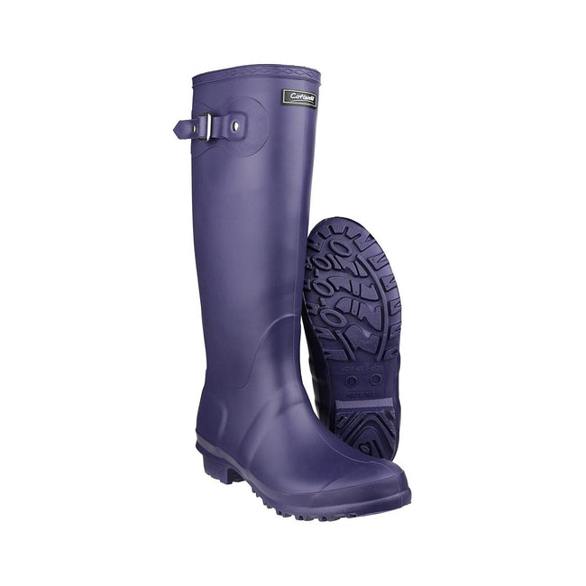 Purple - Lifestyle - Cotswold Sandringham Buckle-Up Womens Wellington Boots