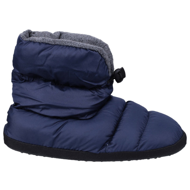 Navy - Back - Cotswold Mens Camping Bootie Slippers