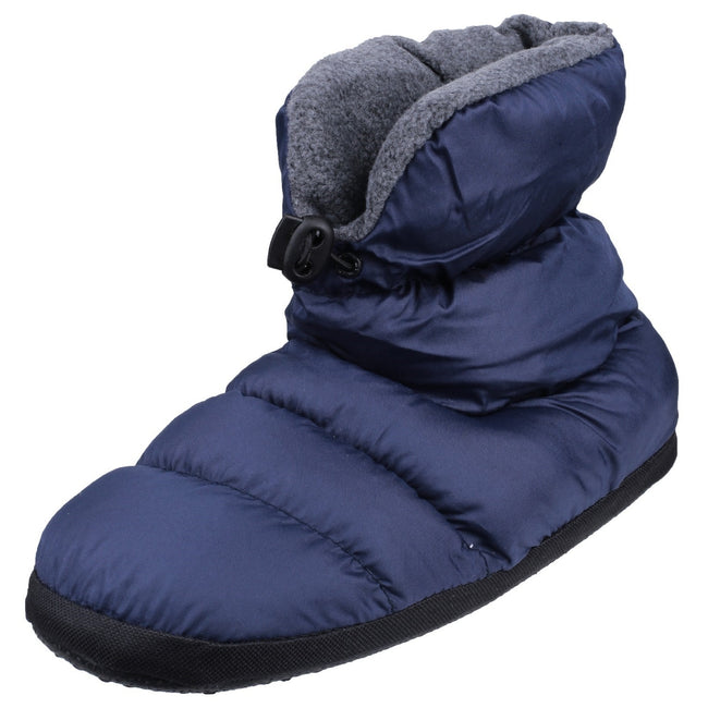 Navy - Pack Shot - Cotswold Mens Camping Bootie Slippers
