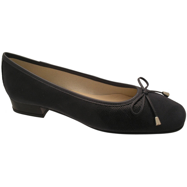 Black - Front - Riva Provence Fish Ladies Ballerina - Womens Shoes