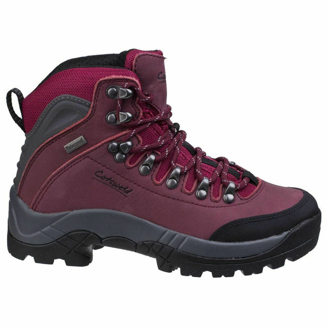 Red - Back - Cotswold Womens-Ladies Westonbirt Waterproof Hiking Boots
