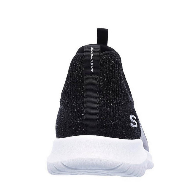 Black - Back - Skechers Womens-Ladies Ultra Flex Sneakers