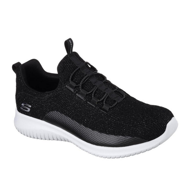 Black - Front - Skechers Womens-Ladies Ultra Flex Sneakers