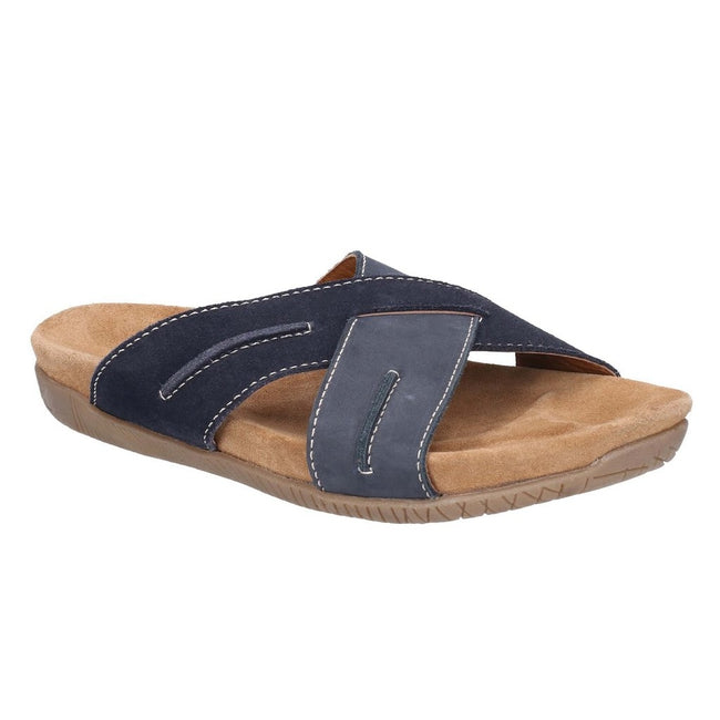 Navy-Blue - Front - Hush Puppies Mens Gizmo Slip On Sandals