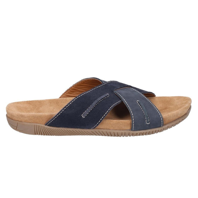 Navy-Blue - Side - Hush Puppies Mens Gizmo Slip On Sandals