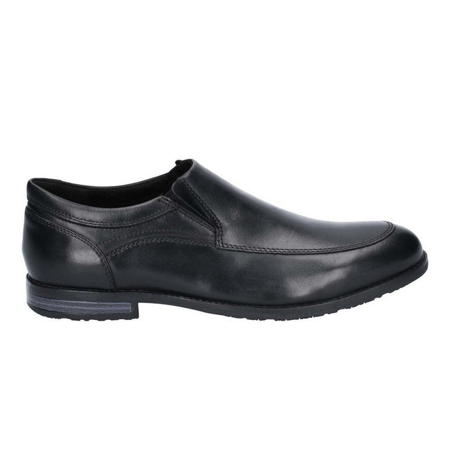 Black - Pack Shot - Rockport Mens Dustyn Slip On Leather Shoe