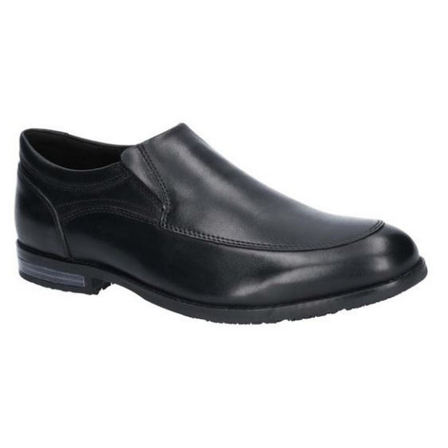 Black - Front - Rockport Mens Dustyn Slip On Leather Shoe