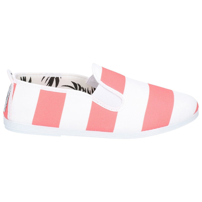 Coral - Side - Flossy Childrens-Girls Urpia Slip On Shoe