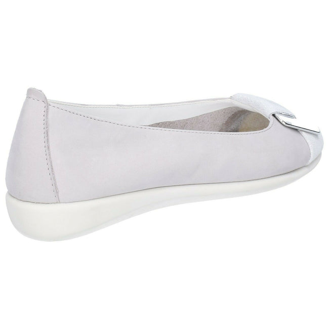 Stone - Side - The Flexx Womens-Ladies Rise N Curry Leather Cashmere Slip On Shoe