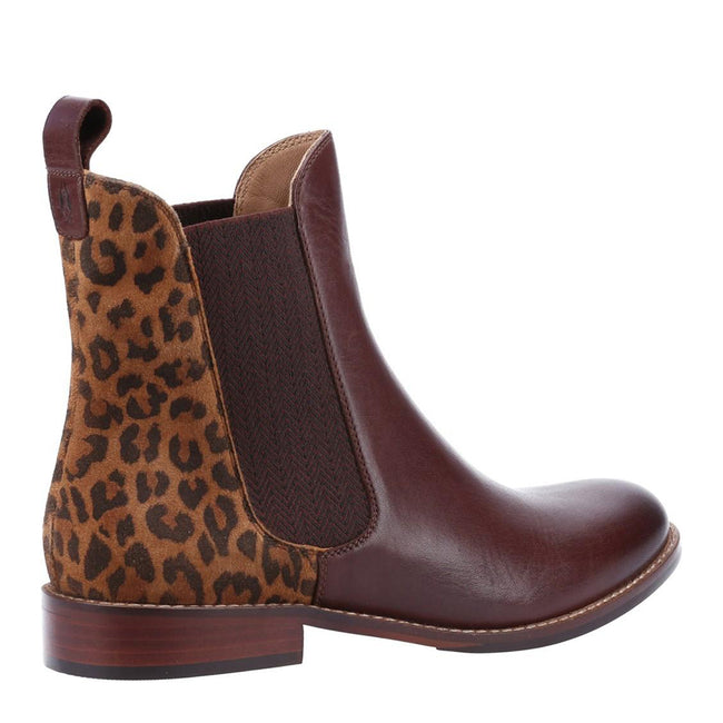 Black - Front - Hush Puppies Womens-Ladies Chloe Slip On Leather Ankle Boot