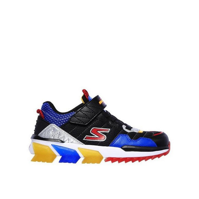 Black-Multicolored - Back - Skechers Boys Skech-Jetz Sneaker
