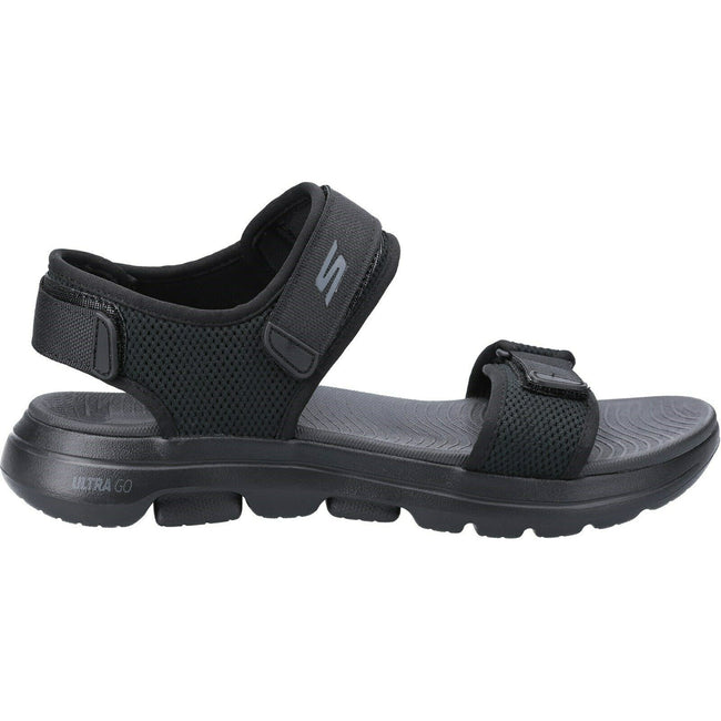 Black - Back - Skechers Mens Go Walk 5 Cabourg Sandal