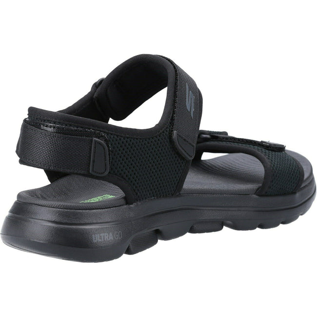 Black - Side - Skechers Mens Go Walk 5 Cabourg Sandal