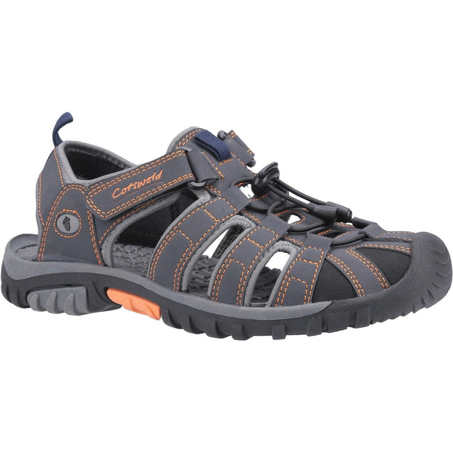 Gray-Orange - Front - Cotswold Mens Sandhurst Touch Fastening Sandal
