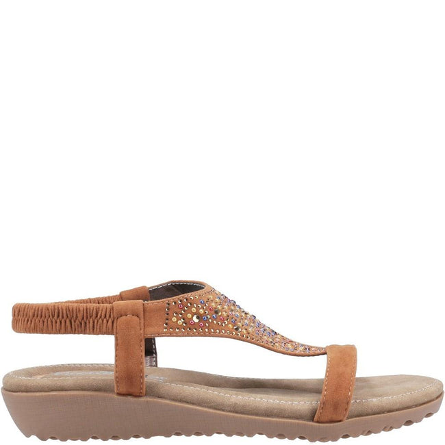 Blue - Front - Fleet & Foster Womens-Ladies Nicosia Slingback Sandal