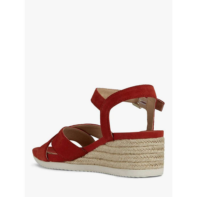 Red - Side - D Ischia Corda C Buckle Sandal