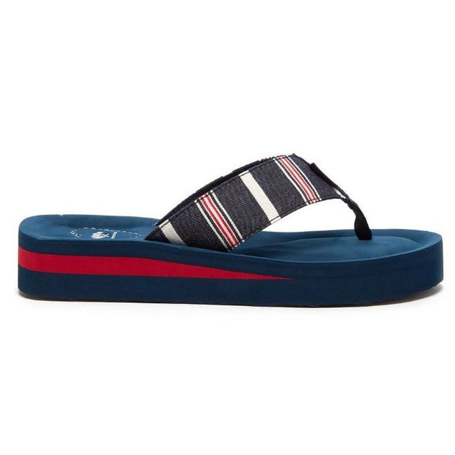 Blue - Back - Rocket Dog Womens-Ladies Winner Elgin Flip Flop