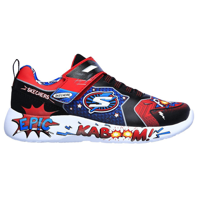 Red-Black-Blue - Back - Skechers Boys Dynamight Defender Squad Trainers