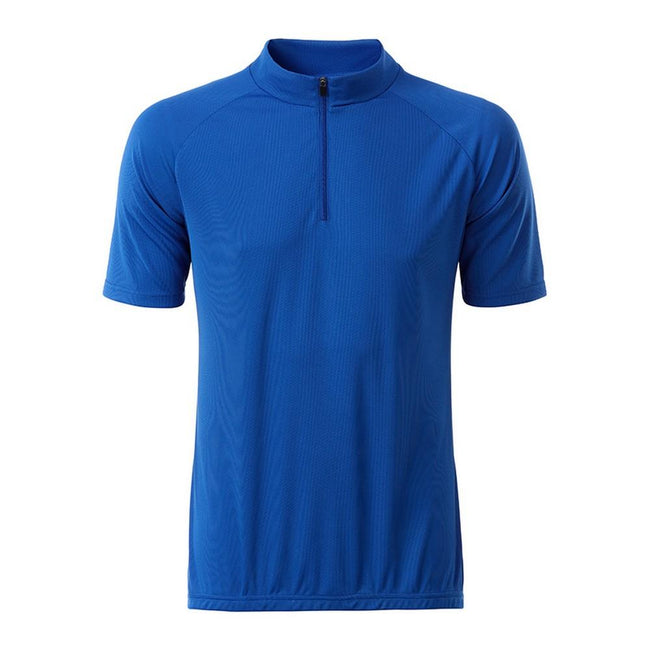 Royal Blue - Front - James and Nicholson Mens Bike T-Shirt