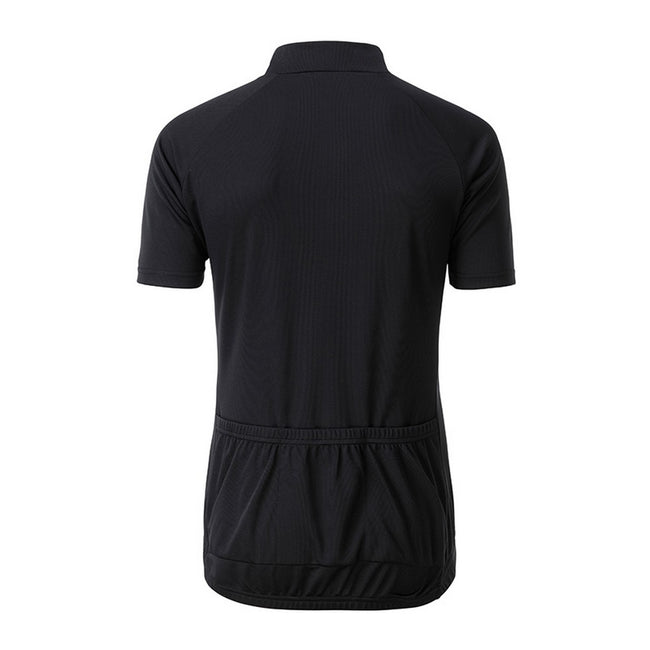 Black - Back - James and Nicholson Mens Bike T-Shirt