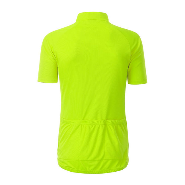 Bright Yellow - Back - James and Nicholson Mens Bike T-Shirt