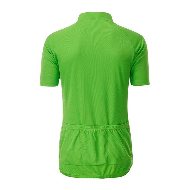 Lime Green - Back - James and Nicholson Mens Bike T-Shirt