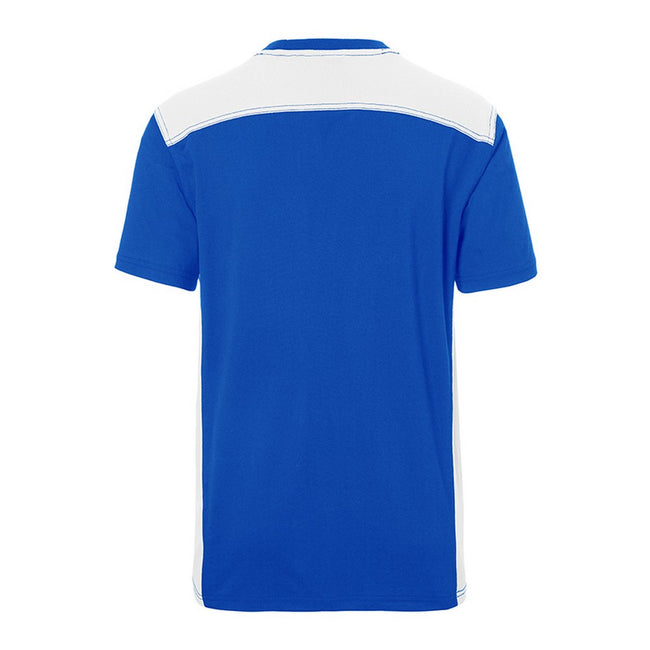 Royal Blue-White - Back - James and Nicholson Mens Workwear 2 Level T-Shirt